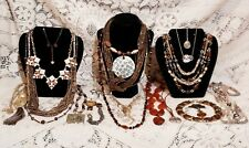 """20 Piece Modern and Vintage """"Go to Town in Brown"""" Mixed Necklace Lot"""