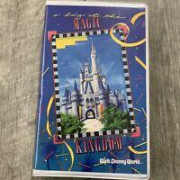 Vintage Walt Disney A Day at Magic Kingdom Home Presentation VHS Video Tape