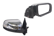 FOR FORD RANGER PX 9/11-PR. DOOR MIRROR CHROME ELECTRIC FLASHER NON AUTO FOLD-RH