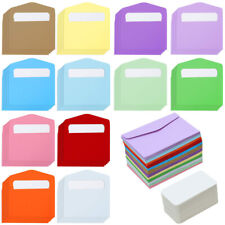 120 Pcs Mini Envelopes Business Cards Colorful Gift Card Wedding Party Supplies