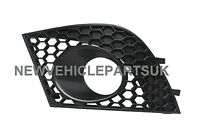 Seat Ibiza 2006-2008 Front Bumper Fog Grille With Fog Light Hole Passenger Side