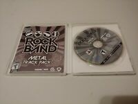 Rock Band: Metal Track Pack (Sony PlayStation 3, 2009) COMPLETE HARMONIX PS3