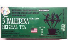 1 Box of 18 Tea Bag Diet Tea Men/Women Drink Extra Strength, 3 Ballerina