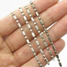 Milor Italy 925 Sterling Silver Extra Long Bead Chain Necklace 100""