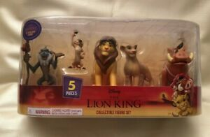 Disney's The Lion King Collectible Figure Set Rafiki Nala Simba Timon Pumbaa