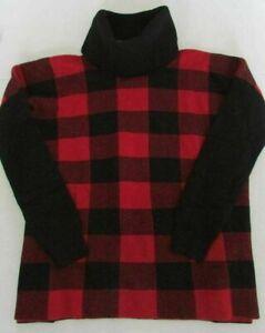 NWT Ralph Lauren Girls Plaid Turtleneck Sweater Wool Blend Size L