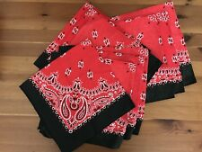 Lot Of 10 Pirate Bandana Cowboy Scarves Birthday Party Supplies Costume