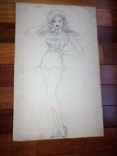 A Patriotic Cheesecake Pinup Girl In Heels by Raeburn Van Buren 1940's