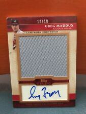 2010 Topps Sterling Greg Maddux Patch & Auto #'d 10