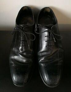 Mens Loake 1880 Black Leather Smart Shoes - UK 9.5