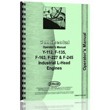 Tractor Operator Manual For Continental Engines F163 Con O Y112lhd