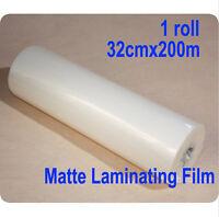 "1 roll 13""x 656'/32cmx200m Matte Hot Laminating Film 1"" Core Laminator"