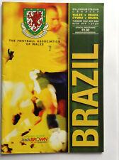 Wales v Brazil, International Friendly Programme 23rd May 2000 at Cardiff
