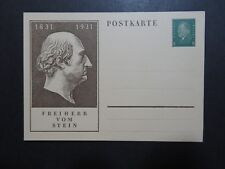 Germany 1931 Vom Stein Cacheted Postal Card Unused - Z10245