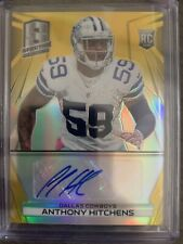 2014 Spectra Anthony Hitchens RC Rookie Auto GOLD Prizm 3/25!! Cowboys!!