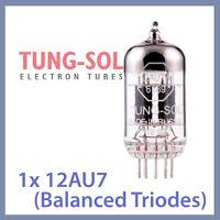 1x NEW Tung Sol 12AU7 Reissue TungSol Vacuum Tube ECC82 6189, Balanced Triodes