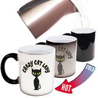 Funny Mugs Crazy Cat Lady Christmas MAGIC NOVELTY MUG secret santa