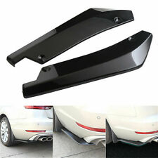2x Universal Glossy Black Car Rear Bumper Lip Diffuser Splitter Canard Protector
