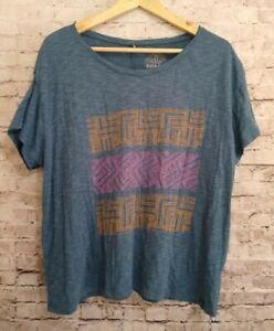 Prana S/S T-Shirt Medium Geometric Boxy Fit