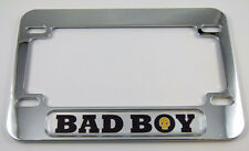 Bad Boy Motorcycle Bike ABS Chrome Plated License Plate Frame Emblem