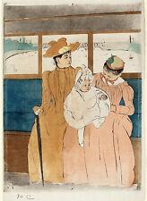 Mary Cassatt Reproductions: In the Omnibus - Fine Art Print