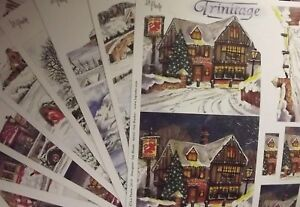 2 Sheets of La Pashe Trinitage Decoupage - Various Christmas Designs