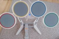 Rockband Harmonix Nintendo Wii Wired Drum Set With Pedal Tested Rare