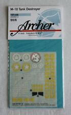 Archer 1/48 M10 Tank Destroyer Markings WWII (builds 3 vehicles) [Decal] AR49013