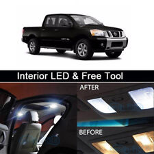 10x White LED Lights Lamp Interior Package For 2009-2017 Nissan Titan+Free Tool