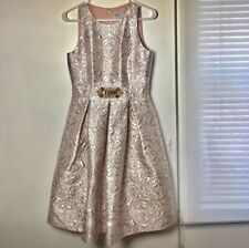 NWT PROM Brocade Eliza j Fit And Flare dress Rose size 4