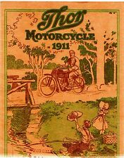 1911 THOR MOTORCYCLE SALES BROCHURE IN .PDF FORMAT ON CD ANTIQUE REPRODUCTION