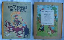 Tintin Les 7 boules de cristal EO 1948 titre en bleu en TBE