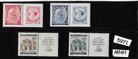#5971 Complete MNH stamp set / Mozart / Music  WWII Third Reich Occupation 1940s