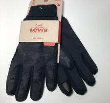 Sz L LEVIS Men's Stretch Active Fit Inteli-touch Gloves Knit Cuff Camouflage/Blk