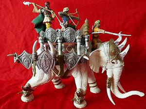 Schleich Kampfelefant 70063 Elefanten Weiss mit Krieger Aufsatz Figuren Reiter