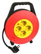 HEITECH Kabelbox  Kabeltrommel 4-fach Schutzkontakt-Steckdosen 10Meter