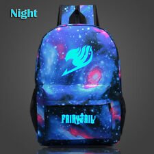 Fairy Tail Night Luminous Backpack Student School Bag Satchel Bookbag Harajuku