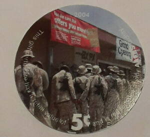5B5  AAFES Pog  2004 U.S. ARMY Money  About  Uncirculation Condition