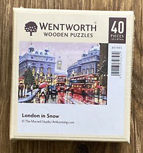 WENTWORTH WOODEN JIGSAW ' LONDON IN SNOW' NEW & SEALED 40pc.
