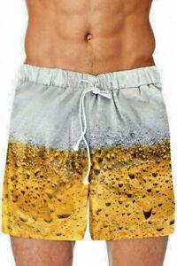 ★  Kürze Hose Pils Bier Badeshort, Schwimmshort,Badehose Boardshorts S-XXL Bier
