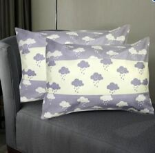 Set of 2 Perfect Cotton Bedding Pillow Case Raindrops
