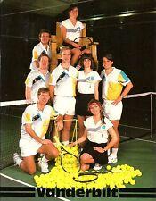 1989 Vanderbilt Men's & Women's Tennis Media Guide