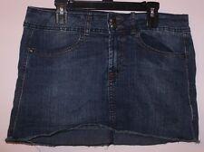 "Miley Cyrus SEXY stretch denim mini skirt blue color 27"" waist no defects ~EUC"