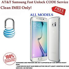 AT&T Samsung Galaxy S2 S3 S4 S5 S6 Note 1,2,3,4 Unlock CODE Service Clean IMEI.