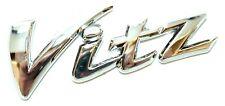 Toyota Vitz Badge Tailgate Chrome Rear Boot 112x38mm Yaris Japan TRD Custom