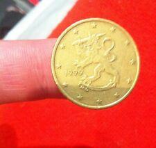 ►►PIECE DE 50 CENT ORIGINAL EURO FINLANDE ANNEE 1999 CENTIME ETAT COURANT ++ ◄