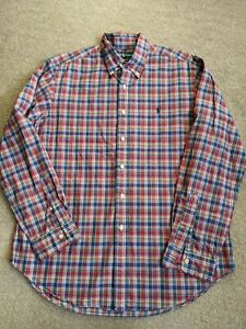 Ralph Lauren Red Checked Shirt Size Large Classic Fit Excellent Condition
