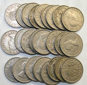 25 PACK OF OLD ENGLISH / SCOTTISH SHILLING BULK COINS.
