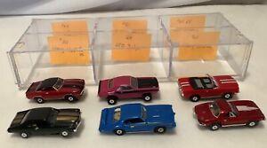 Vintage HO Scale Slot Cars  Lot of 6