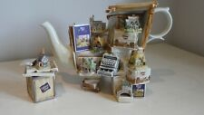 More details for paul cardew lilliput lane teapot limited edition with tea caddy - very rare